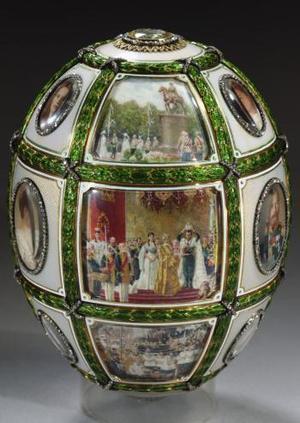La colección pertenece a la familia del fallecido millonario Malcolm Forbes, editor y dueño de la revista Forbes, y está considerada como la mayor que existe de este tipo en manos privadas, según Sotheby's. <u> Imagen: El huevo imperial de Pascua </u>