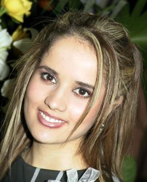 Verónica Tostado Viesca en su primera despedida de soltera.