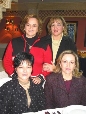 <u> 10 de enero </u> <p> Anabel Gurza de Novelo, Pamela Gurza de Villarreal, Leticia Gurza de Dïaz y Cecilia Gurza de Martín.