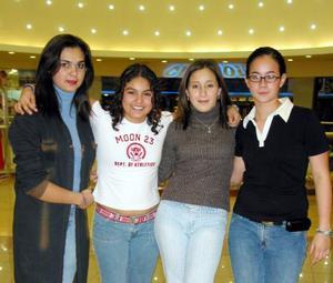 Cristy Díaz, Mafer Tagle, Mayela Félix y Valeria Oviedo.