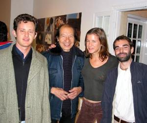 César Atiyeh, Jorge Alcorcha, Flora Gallegos y Armando 'El Marinero'.