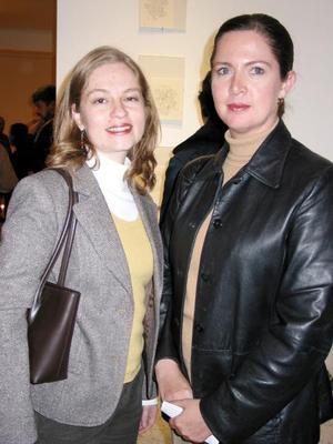 Cristina Treviño y Silvia Córdova en pasado acontecimiento social.