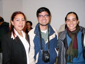 Erla Roldán, Francisco Zárate y Tania Ruvalcaba