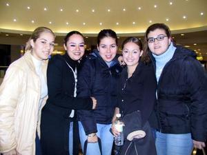 Yéssica López Angélica Martínez, Érika Navarro, Rocío  Solano y Lucero Delgadillo.