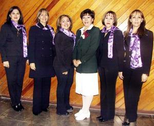 Blanca Estela Rodela, Rosario Morales, Sandra Villarreal, Aidé Leticia Núñez, Ángeles Arellano y Susana Dïaz