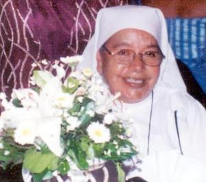 La religiosa Josefina Morales del Santísimo Sacramento celebró 50 años de una loable labor.