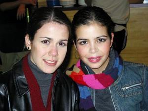 Ana Sofía González y Lydia Cárdenas.