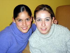 Elda Rosas y Cinthia Prieto.