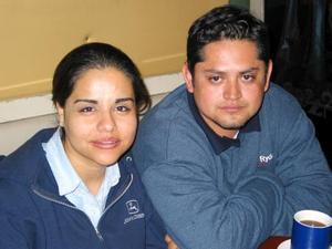 Karina Hernández y Melchor Núñez.