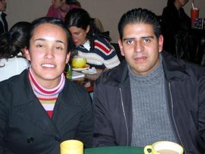 Lety Arce y Édgar López.