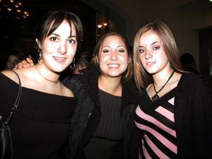 Mary Berlanga, Angelina Peressini  y Marina Bohigas