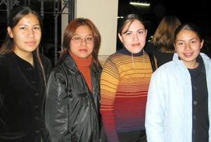 Senhdy Trejo, Brenda Sierra, Minerva Ramos y Dina González.