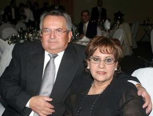 Ángel y Rosario Herrera captados en un baile de Año Nuevo.