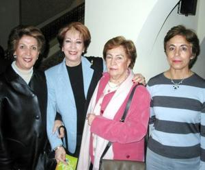 Jossie R. de Iriarte, Irma de Froto, Tere Iglesias, Alejandra Carmona