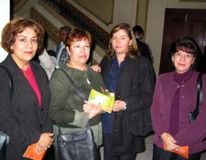 Lupita Shumm, Conchita García, Eliza Cobos y Paulina Barajas