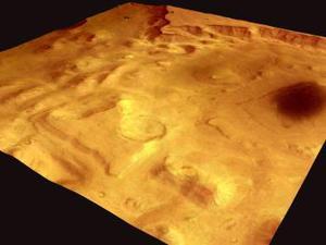 Se trata de bolsas de agua congelada y dióxido de carbono helado en cantidades importantes, dijo en rueda prensa Vittorio Formisano, uno de los científicos de la ESA involucrados en la misión, la primera de la ESA a Marte y parte importante del programa Aurora.