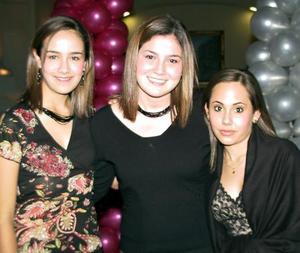 <u> 22 de enero </u> <p> Elva Cervantes, Mariana Sifuentes y Natalia Chufani.