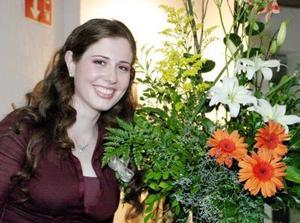 <u> 22 de enero </u> <p>  Elisabetta Giberti Barbieri, en su segunda despedia de soltera.
