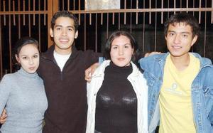 María Eugenia Rodríguez, Misael Pérez, Maribel Trujillo y David Sánchez.