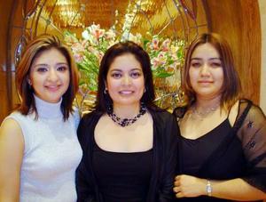 <u> 24 de enero </u> <p> Rocío Rodríguez, Gloria Partida y Farah Hernández.