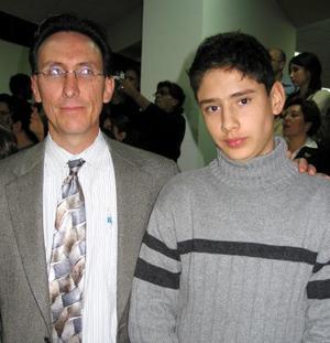 Diego Berlanga y su hijo Diego Berlanga
