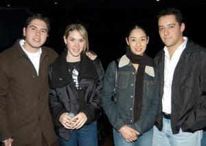 <u> 26 de enero </u> <p> René Rivera, Alejandra Rodríguez, Karla Wong y Manuel Nahle.