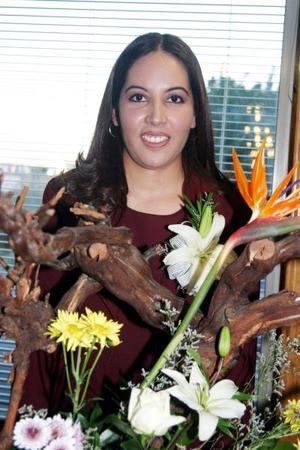 Claudia Marcela Rivas Nájera captada en su despedida de soltera.