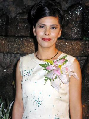 Señorita Marizcruz Martínez Ruiz en su despedida de soltera. Ella se casará con el señor Fernando Patricio Campa Martínez el próximo 21 de febrero.