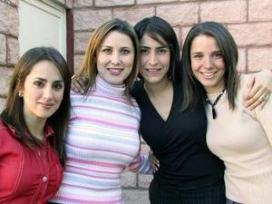 <u> 28 de enero </u> <p>  Nancy Perella, Marcela Pereyra, Lorena González y Begoña Galán.