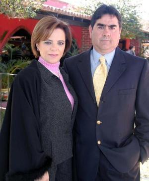Malu y Ricardo Diez captados en pasdo acontecimiento social.