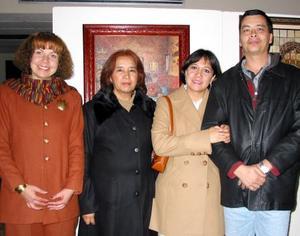 Elisa Urquizo, Silvia Ávila, Victoria Guerrero y Eduardo Saldaña.