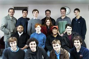 Integrantes del coro Nassoons -proveniente de la Universidad de Princeton, Nueva Jersey-, ofrecieron un recital en esta ciudad.