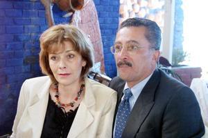 Jeannine y César Lorda en pasado festejo.