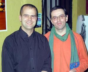 Emmanuel Delaloy acompañado de Chritian Delorme