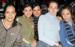 <u><b>05 de febrero</u></b> <p> Sofía Mitre, Alma Villalobos, Cecy Ávalos, Laura Juárez y Gina Núñez.