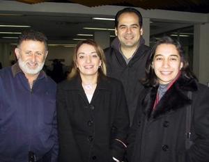 David Granados, Myrna Espinoza, Martha Campa y Luis Quiroz regresaron a México.