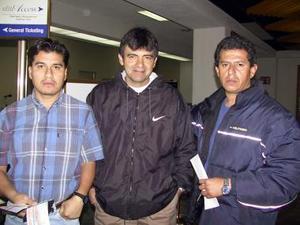 <u><b>03 de febrero</u></b> Armando Romero, Gerardo García y David Bretón regresaron a la Ciudad de México.