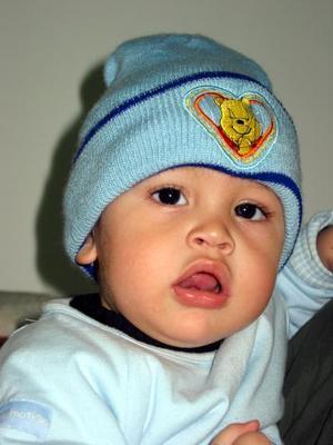 El niño Edwin González, captado en reciente festejo infantil.