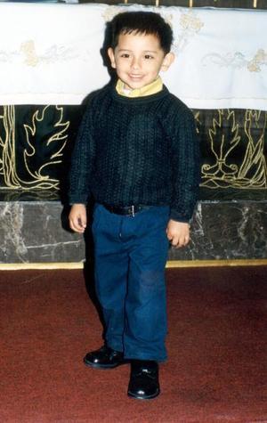 El pequeño Diego Saúl García Arreola el día que cumplió tres años de vida