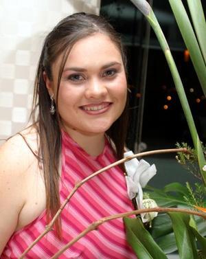 Ana Lucía Villarreal Torre en su primera despedida de soltera.