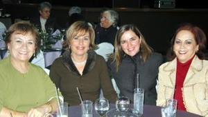Rosalía de Gamboa, Adela de Salazar, Cecilia de Murra y Olga de Gallegos.