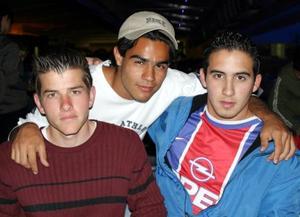 Cándido García, Paco Albuquerque y Enrique Galindo