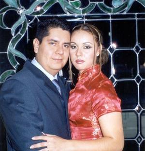 Aurelio Rangel Vaquera y Marlen Romero Segura contrajeron matrimonio.