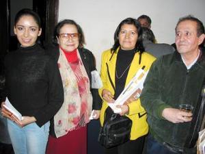 Fernanda ramos Dueñas, Sanjuana Nungaray Sánchez, América Dueñez Pérez y Dagoberto Proo.