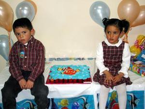 Zahir y Astrid Babún Dorantes cumplieron cuatro años de vida y por tal motivo los festejaron con una divertida merienda.