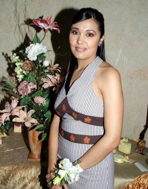 Miriam Guerrero Garza en su despedida de soltera