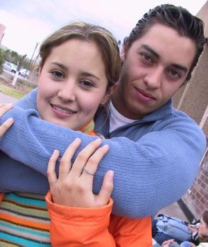 Aleisther Garza y Tenssy Meléndez.