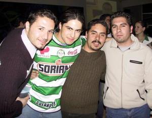 Ricardo Plata, Bernardo Arroyo, Rolando Vigne, Jaime Chávez.