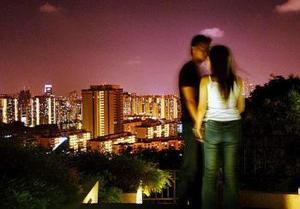 Día del Amor y la Amistad en Singapur.