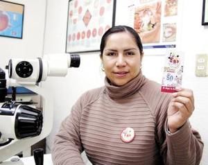 La séptima afortunada de la semana Nro. 3 fue Sandra Valenzuela quien es recepcionista de un consultorio médico de oftalmología.